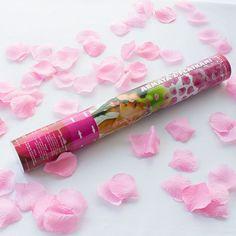 Konfettikanone Rosenblätter rosa