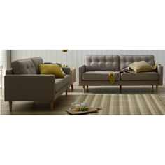 London 3 seater + 2 seater Value Furniture, Bedroom Furniture, Retro Couch, Living Area, Living Room, Lounge Suites, Sofas, Love Seat, London