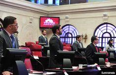Estudiantes de derecho debaten en el hemiciclo del Senado