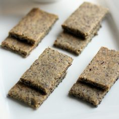 Flax seed/almond meal herb crackers from The Food Lovers Kitchen