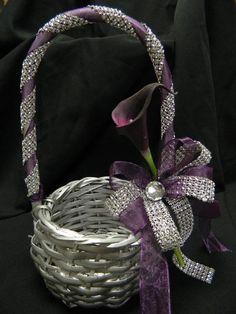Bling Flower girl Basket
