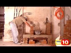 Como hacer una chimenea de ladrillos - YouTube Build A Fireplace, Chiminea, Modern Architecture Design, Ideas Para, Ladder Decor, Projects To Try, Sweet Home, Painting, Youtube