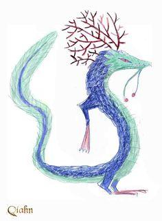 Dragón de Agua: boceto 6 / Water Dragon: sketch #6. Art by juanbjuan
