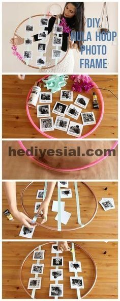 15 DIY Constructions with Hula Hoop that You Will Love - Toftiaxa.gr - 15 DIY Constructions with Hula Hoop That You Will Love Diy Photo, Family Photo Frames, Photo Frames Diy, Photo Frame Ideas, Photo Ideas, Family Photos, Picture Frames, Diy Birthday, Birthday Gifts