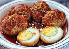 Hintalu Masak Habang (Telur Bumbu Bali Banjar)