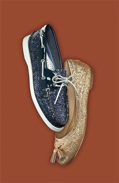 Sparkly Sperry Top-Siders! Takes me back to the days of my glittery Dorothy shoes in third grade.