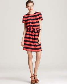 Pippa Silk Dress - Stripe Short Sleeve Hoxton | Bloomingdale's#fn=DRESS_OCCASION%3DDay%26spp%3D9%26ppp%3D96%26sp%3D2%26rid%3D61