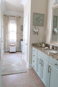 Try a color other than white in your bathroom!
