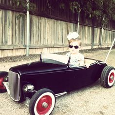 32 ford roadster, pedal car, hot rod stroller