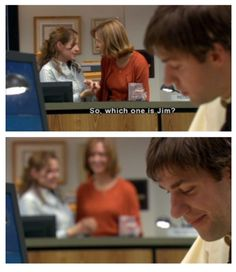 Austin and i only really watched the Jim and Pam season. They nailed the joy of liking and loving. Ugh Jim and Pam!