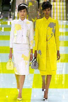 Louis Vuitton Spring 2013 Ready-to-Wear Fashion Show - Look 16A: Yulia Saparniyazova (FORD)  Look 16B: Grace Mahary (WM)