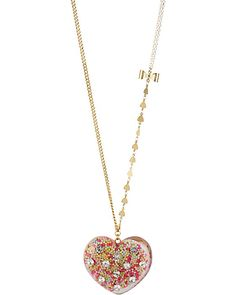 HEART CANDY FILLED PENDANT MULTI accessories jewelry necklaces fashion