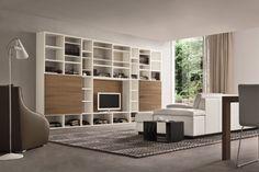Mueble modular de pared lacado con soporte para tv SPEED O Colección Speed by Dall'Agnese   diseño Imago Design, Massimo Rosa