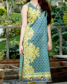 Gloria Fabrics Digital Printed #LawnCollection kurti Unstitched 1 Piece 1303A in Yellow #SayNoToReplicas #PromoteOriginalsAndBeProud