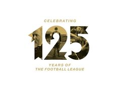 Logo for the Football League's anniversary Logos, Typography Logo, Logo Branding, Branding Design, Lettering, 50th Anniversary Logo, 100 Logo, Education Logo, Education Center