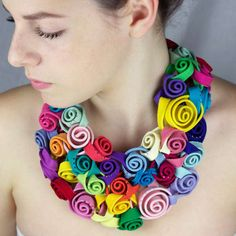Floral Fabric Accessories - The Peru Textile Jewelry Collection by Claudia Stern is Textural (GALLERY) Textile Jewelry, Fabric Jewelry, Jewelry Art, Jewelry Gifts, Cartier Jewelry, Jewellery, Stone Jewelry, Textile Art, Jewelry Shop