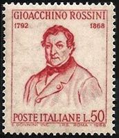 Gioacchino ROSSINI - the Italian opera composer on an Italian postage stamp