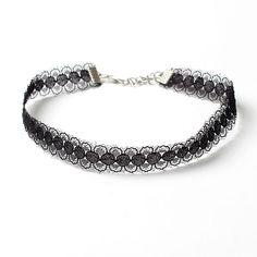 Fur Ball choker necklace velvet jewellery black fashion hot jewelery