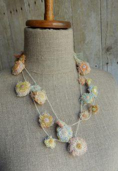 """""""Horcruxe"""" long linen necklace"""