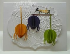 Punch Art Spiders. Stampin' Up! products by Debbie Henderson, Debbie's Designs.