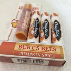▪️Limited edition pumpkin spice and pumpkin pie lipbalm This listing is for: ▪️Burt's Bees Pumpkin Spice (1) ▪️Lipsmacker Pumpkin Latte (1) ▪️ Chapstick Pumpkin Pie (3) ▪️ All BRAND NEW & sealed ▪️ See my other listings for separate prices   [tags] Burts bees pumpkin lipbalm pumpkin pie lip pumpkin chap stick pumpkin Lipsmackers pumpkin Lip Smacker pumpkim free ship