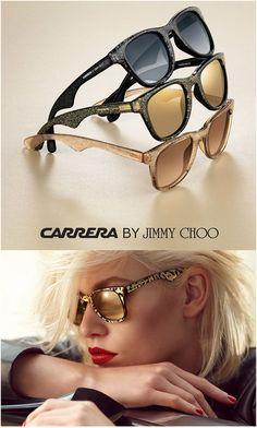 CARRERA by Jimmy Choo, gafas de sol con un estilo inconfundible. Tonos dorados, acabados glitter, espíritu rockero... Muy pronto en Óptica Capitol #eyewear #sunglasses