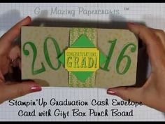 Stampin'Up Graduation Cash Envelope Card with Gift Bag Punch Board