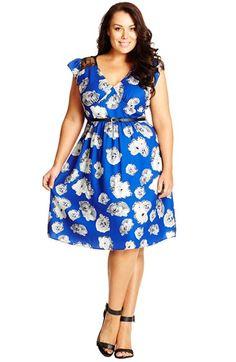 City Chic 'Flower Patch' Dress (Plus Size) | Nordstrom