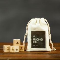Mixology Dice - Inspiration for making craft cocktails. These dice don't just give you inspiration, they're actually a clever system for learning the art of mixology. Makes a great gift for him, boyfriend gift, hostess gift or stocking stuffer.