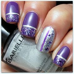 Hello :)  I will show you a manicure that was done a couple of weeks ago.  I used all Barielle  shades.  I started with 2 coats of Grape Es...