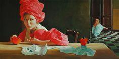 La prima colazione, Olio su tela 1983 Disney Characters, Fictional Characters, Disney Princess, Painting, Art, Art Background, Painting Art, Kunst, Paintings