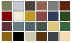 Exterior paint ideas american colonial home decorating palette paint color chips Primitive Colors, Primitive Homes, Primitive Country, Primitive Decor, Colonial Exterior, Exterior Paint, Exterior Colors, Early American Homes, Home Goods Decor