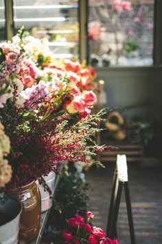 Can spring be here now!? Flowers, carnations, rainbow colors, pink, red, orange, purple, green, flower shop, bouquet