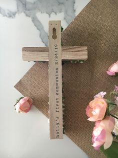 Personalized wall cross / personalized wall cross first holy communion confirmation baptism dedication christening Christening Gifts For Girls, Christening Party, Baptism Party, Baptism Ideas, Godchild Gift, Goddaughter Gifts, Chic Nursery, Rustic Nursery, Woodland Nursery