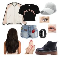 """""""Sport and Short"""" by rachgrizz ❤ liked on Polyvore featuring Monki, River Island, Sans Souci, Charlotte Tilbury and Piggy Paint"""