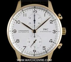 #IWC 18k Rose Gold Silver Dial #Portuguese #Chronograph B&P #IW371402