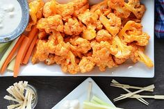 Tasty Kitchen Blog: Cauliflower Buffalo Wings. Guest post by Faith Gorsky of An Edible Mosaic, recipe submitted by TK member Shelbi Keith of Look Who's Cookin' Now.