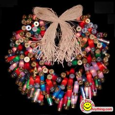 Shotgun shell wreath for a RedNeck Christmas