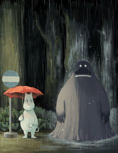 My neighbour the Groke by Sildesalaten #moomin #totoro