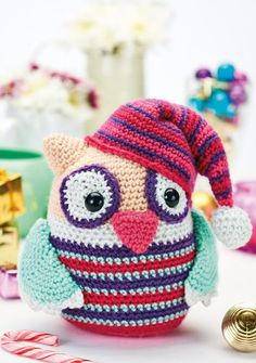 Sleepy owl toy Designer: Lets Get Crafting Magazine Grátis, inglês / Free pattern, English