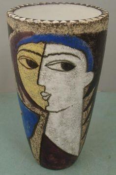 Picasso Womans Face Pottery Vase Sweden