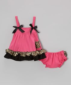 Another great find on #zulily! Hot Pink Leopard Swing Top & Diaper Cover - Infant & Toddler #zulilyfinds