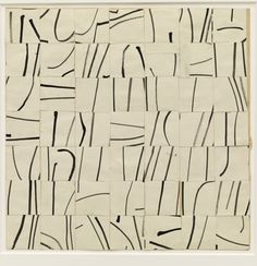 Ellsworth Kelly. Brushstrokes Cut into Forty-Nine Squares and Arranged by Chance. (1951)