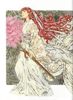 陽子 Youko:十二国記 Juuni Kokki/Twelve Kingdoms - art by Yamada Akihiro 山田章博