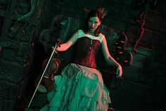 Costumed Violinist at the London Dungeon
