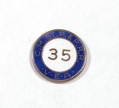 """RAILROAD  ( C.M.ST.P.& P.R.R  )   """"35""""   YEAR  V.E.A.  SERVICE  PIN  - MILW .RD. picclick.com"""