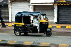 Auto rickshaw is a three-wheeled vehicle in black and yellow color. This mode of transport is like an open-air taxi with a capacity to carry three adult-sized passengers. This mode of transportation in Mumbai is cheaper than taxi and more expensive than bus. Like in taxis, there are meters in auto-rickshaws as well.