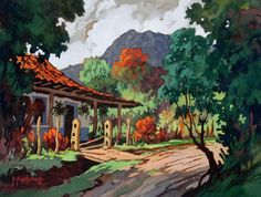Country Crafts, Country Art, Beautiful Paintings, Beautiful Images, Costa Rica Art, South American Art, Cottage Art, Photos Tumblr, Pictures To Draw