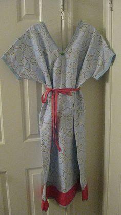 DIY maternity hospital gown.