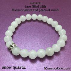 Snow Quartz provides peaceful energies in a whirlwind environment. It offers clarity. #love #yoga #mala #women #men #bracelets #bracelet #chakra #goals #happiness #bead #mantra #healing #zen #meditate #karma #style #prayer #spiritual #meditation #friendship #lucky #buddhist #buddha #fitness #luck #luxury #power #energy #crystal #grateful #motivate #mensstyle #jewelry #fashion #white #snow #quartz #crystal #OOAK #artisan #handmade